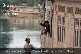 Foto India, Houseboat nel Lago Dal, Srinagar, Kashmir